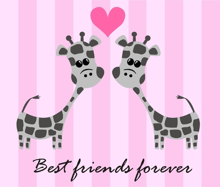 best friends forever Stock Vector - 7959297