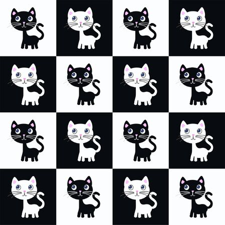 seamless cat pattern Illustration
