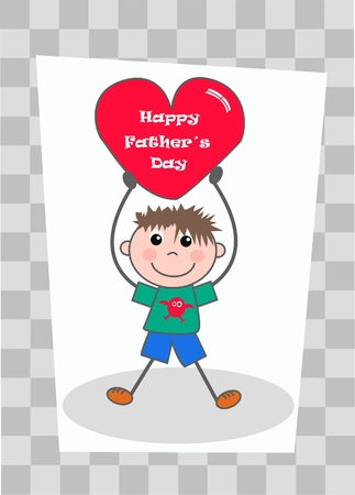 happy father´s day Stock Vector - 7959307