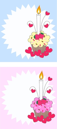 cupcake pattern Stock Vector - 8029552