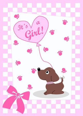 baby girl card Stock Vector - 8127906