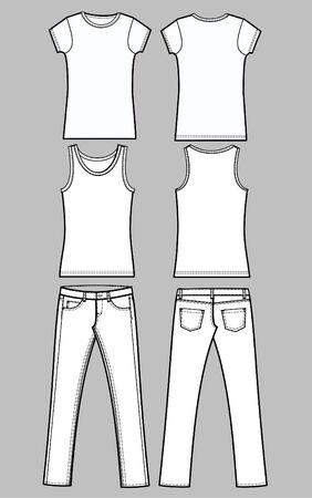 Hose: Kleidungsst�ck Skizze Illustration