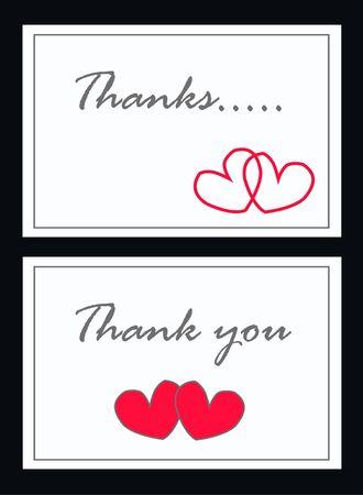 thank you card Stock Vector - 8166706