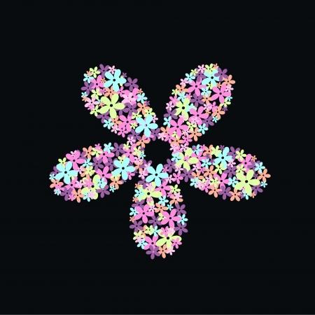 scrapbook cover: flower pattern