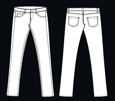 outfit: jeans Illustration