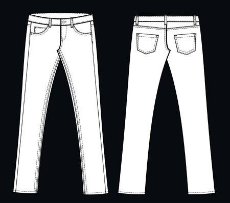 denim jeans: jeans Illustration