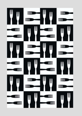 textile industry: seamless kitchen pattern
