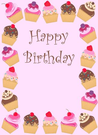 happy birthday card Stock Vector - 8266351