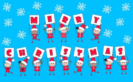 merry christmas Stock Vector - 8353076