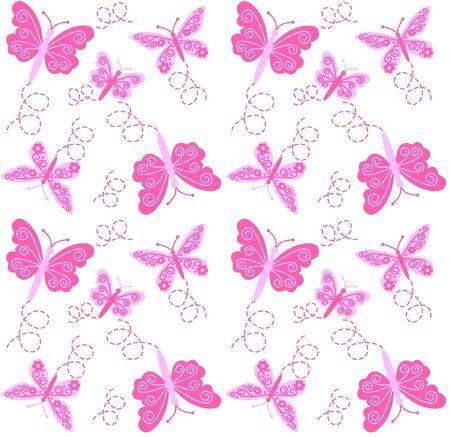 butterfly pattern: seamless butterfly pattern