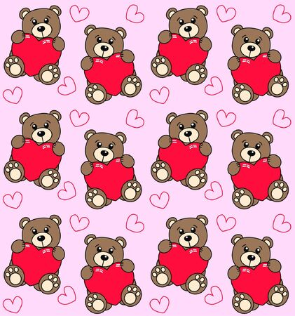 seamless bear pattern Stock Vector - 8437066
