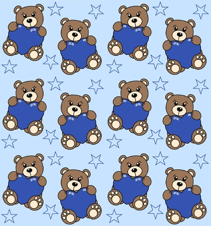 seamless bear pattern Vector