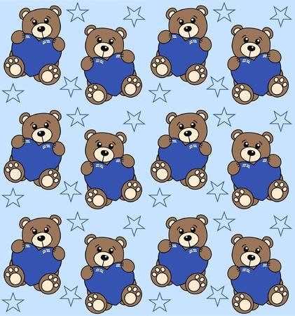 seamless bear pattern Vector
