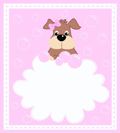 a cute litte puppy girl Stock Vector - 8517684