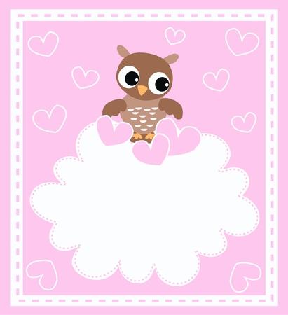 a cute little brown owl Stock Vector - 8517683