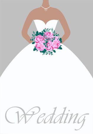 suknia ślubna: Karta Å›lubu Ilustracja