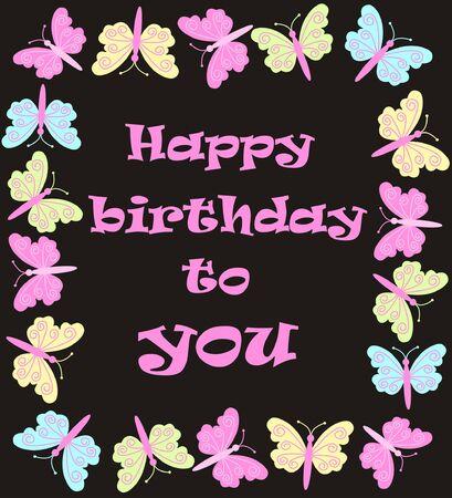 birthday frame: happy birthday