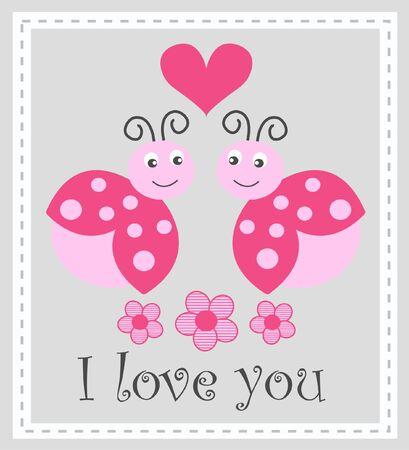 messages: I love you  Illustration