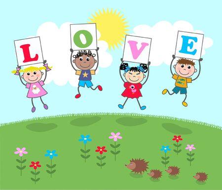 love message Stock Vector - 8560089