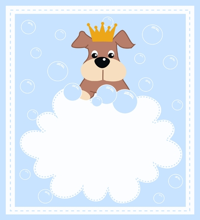 a cute little puppy boy Vector