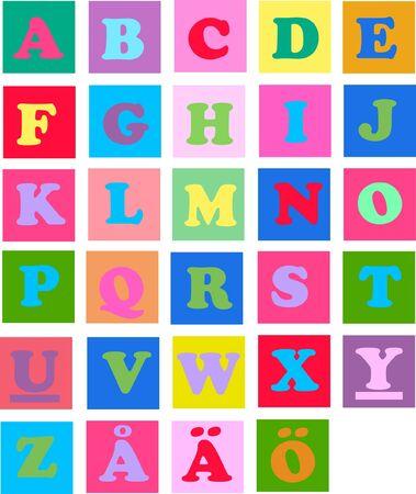 escuela infantil: letras del alfabeto