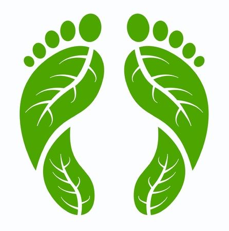 foot step: piedi umani verde