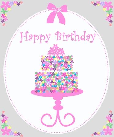 happy birthday cake: Feliz cumplea�os