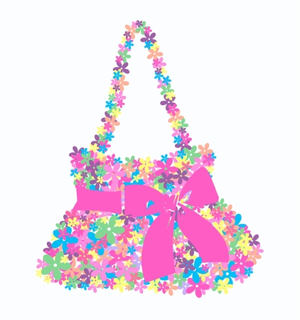 flower bag Stock Vector - 8606243