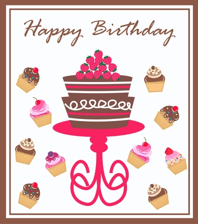 happy birthday Stock Vector - 8606244