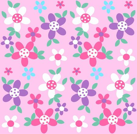 lilac: seamless flower pattern Illustration