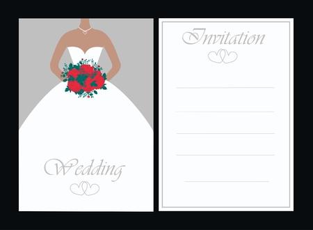 uitnodigen: bruiloft uitnodiging Stock Illustratie