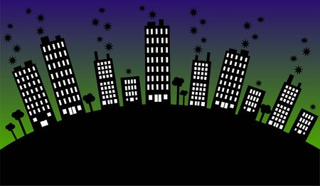 city skyline Stock Vector - 8640033
