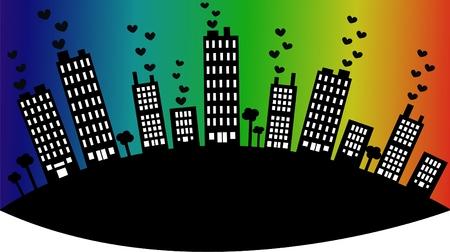 city skyline Stock Vector - 8640034