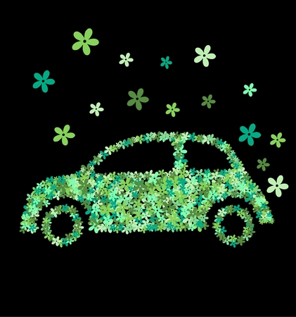 flower car Vector