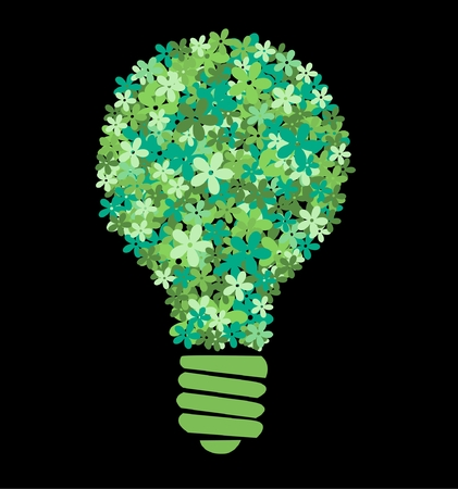 green flower bulb Vector