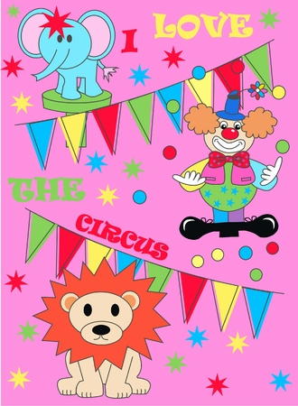 circus pattern Vector