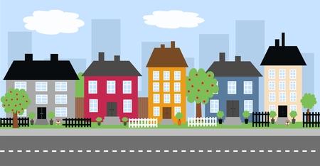 case colorate: Paesaggi urbani
