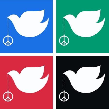 peace doves Vector