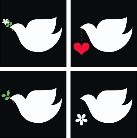 dove of peace: peace dove Illustration