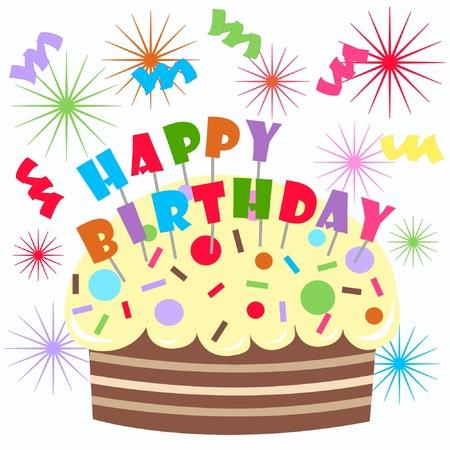 happy birthday Stock Vector - 8767364
