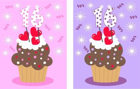 sweet sixteen Stock Vector - 8778288