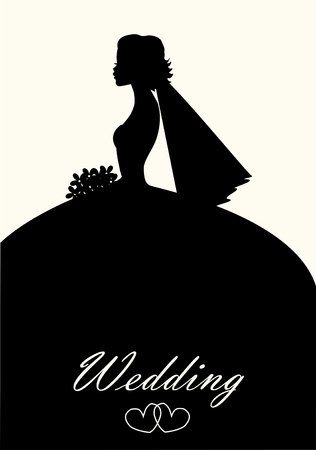 bride silhouette: wedding