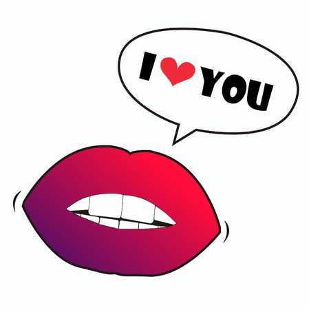 hot lips: I love you