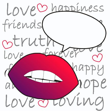 lips with a talk bubble Vector
