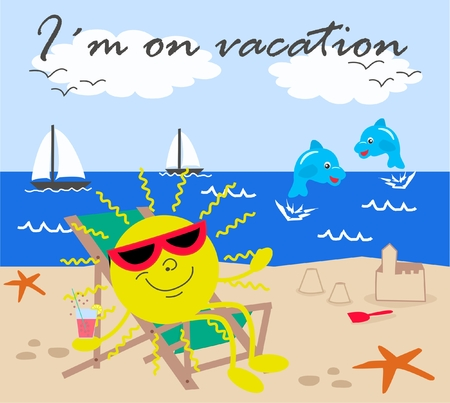 I´m on vacation Vector