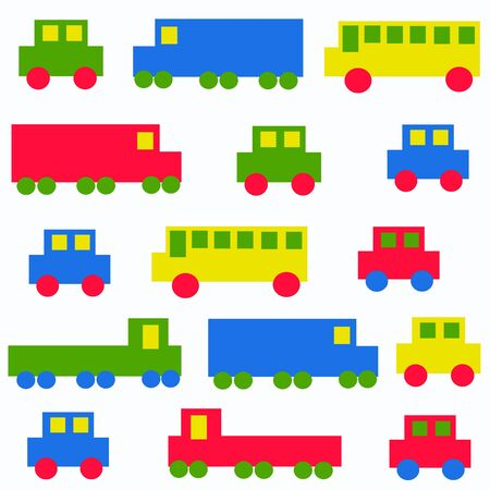 childrens: seamless car pattern Illustration