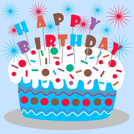 happy birthday Stock Vector - 8918051