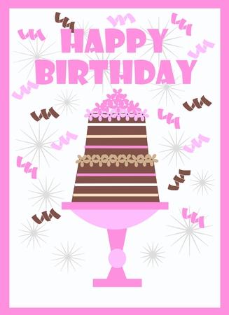 happy birthday Stock Vector - 8975705