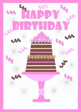 happy birthday Stock Vector - 8975705