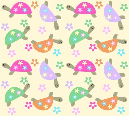 seamless turle pattern Vector
